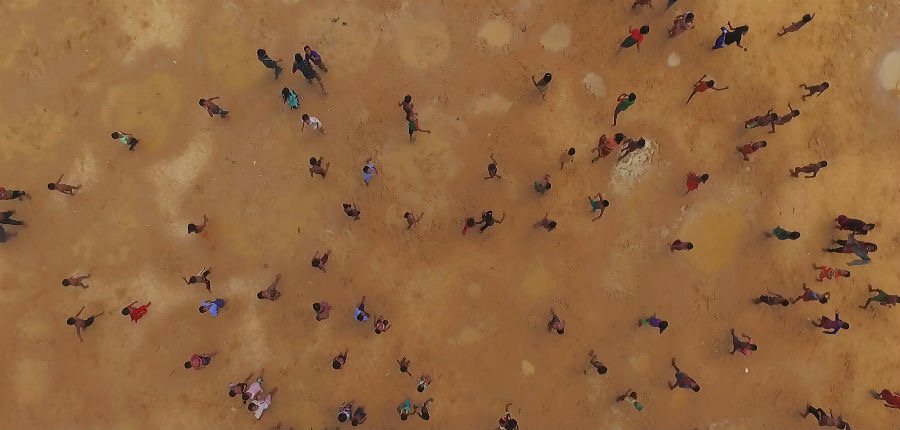 Drone footage of refugees at Kutupalong Camp, Bangladesh, 2016. From HUMAN FLOW.